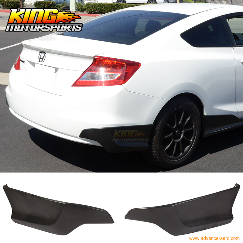 For 2012-2013 Honda Civic 9Th Gen H Style Rear Bumper Lip Splitters Caps Spats PU ξ ny ih австрийский 9th годовщина pu эр юньнань pu и hp у ребенка teacake 2016 357gripe
