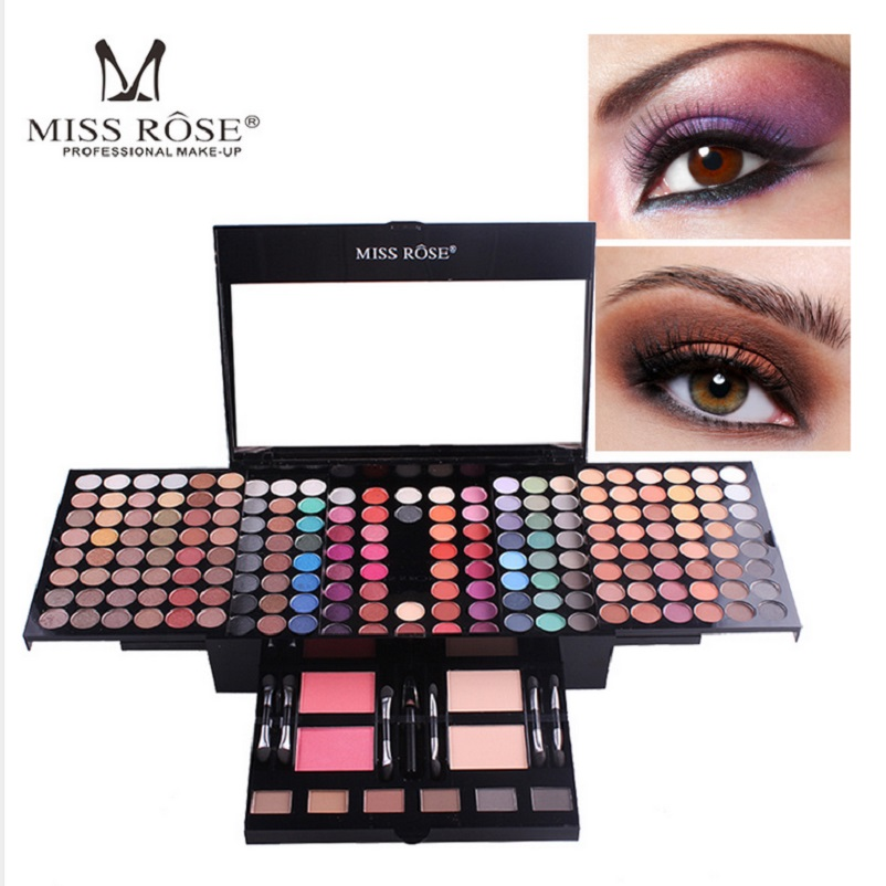 Miss Rose Makeup Set 180 Colors Professional Cosmetics Matte Nude Shimmer Eyeshadow Palette Powder Maquiagem Eyshadow