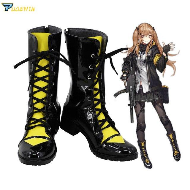 게임 소녀 전선 ump9 ump45 코스프레 신발 부츠