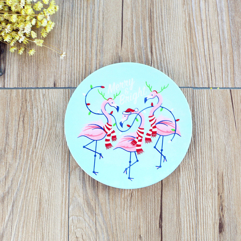 Cartoon flamingo melamine dishes plastic Christmas plate dinner tableware dish cake fruit steak tray dishes kitchen organizer-in Dishes \u0026 Plates from Home ...  sc 1 st  AliExpress.com & Cartoon flamingo melamine dishes plastic Christmas plate dinner ...