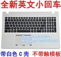 Frete grátis 95% Novo Para X550 X550C K550V X552E A550J Y581C teclado com apoio para as mãos da caixa sem touchpad Branco
