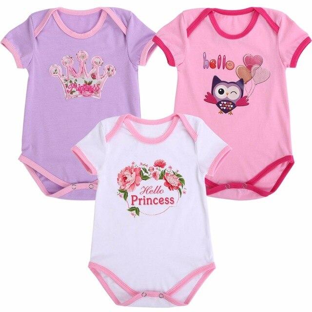 0-2Y niñas ropa de bebé traje de algodón recién nacido bebé mono gemelos 3.  Sitúa el cursor encima para ... 679ee51fbd02d