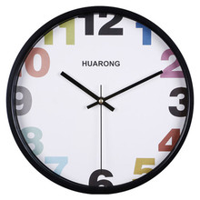 new pastoral style horloge murale 12inch metal mute beautiful wall clock round acrylic