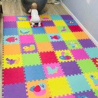 Espuma de eva puzzlen/esteira do jogo da espuma do bebê esteira do enigma do jogo/18 pces/36 pces lote bloqueio exercício tileseach 30cmx30cm