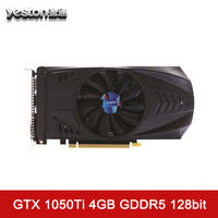 Yeston GeForce GTX 1050Ti Graphics Card 4GB GDDR5 7000MHz 128Bit With HDMI DVI DP Single Fans