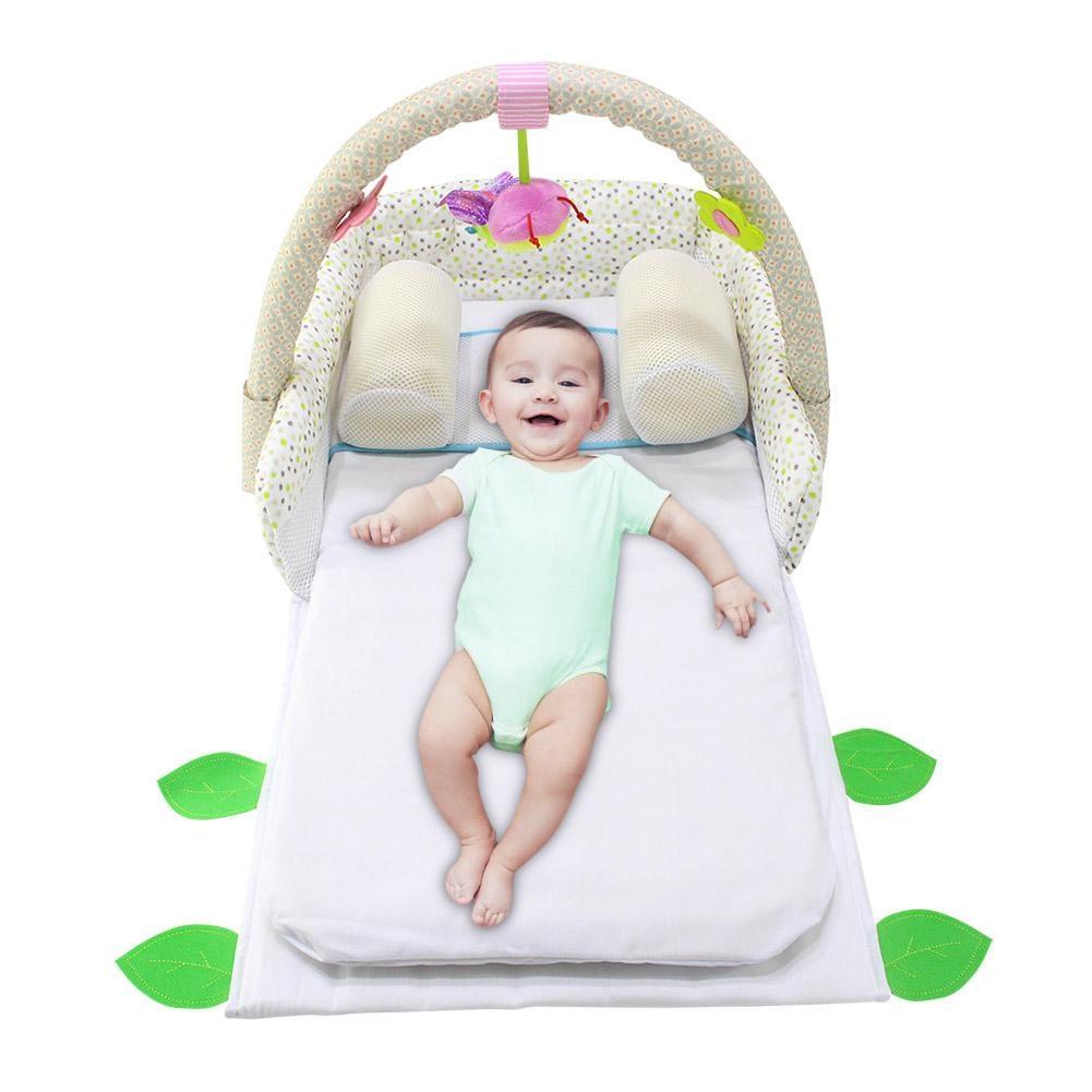 купить Multifunction Baby Crib Travel Sleep Pillow Newborn Anti-rollover Safety Cushion Baby Sleep Positioning Pad Portable Folding Bed недорого