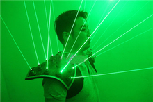 Green Laserman Show Shoulder Suit LED Luminous Vest Waistcoat Green Laser Man Costume Clothes For Party cosplay