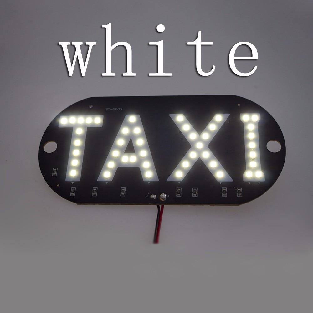 4 färger Taxi Led Bil Vindruta Hyttindikator Lampskylt Blå Vit Röd - Bilbelysning - Foto 5
