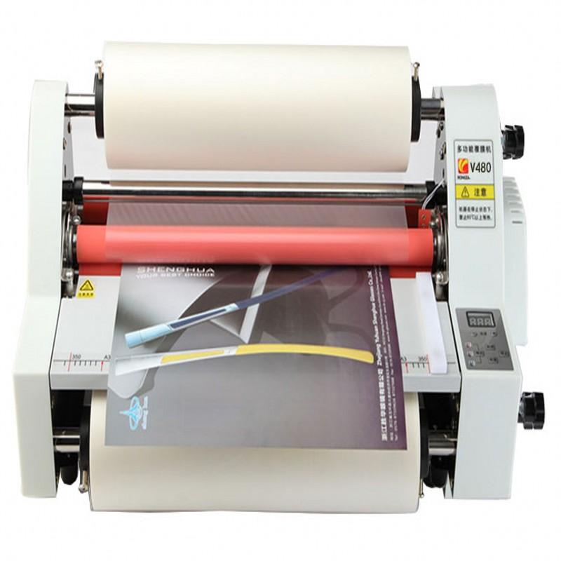 2020 New Hot roll laminator machine with 4 rubber rollers 350mm   sending 2pcs laminating film rolls free|machine machine|machine rollingmachine laminator - title=