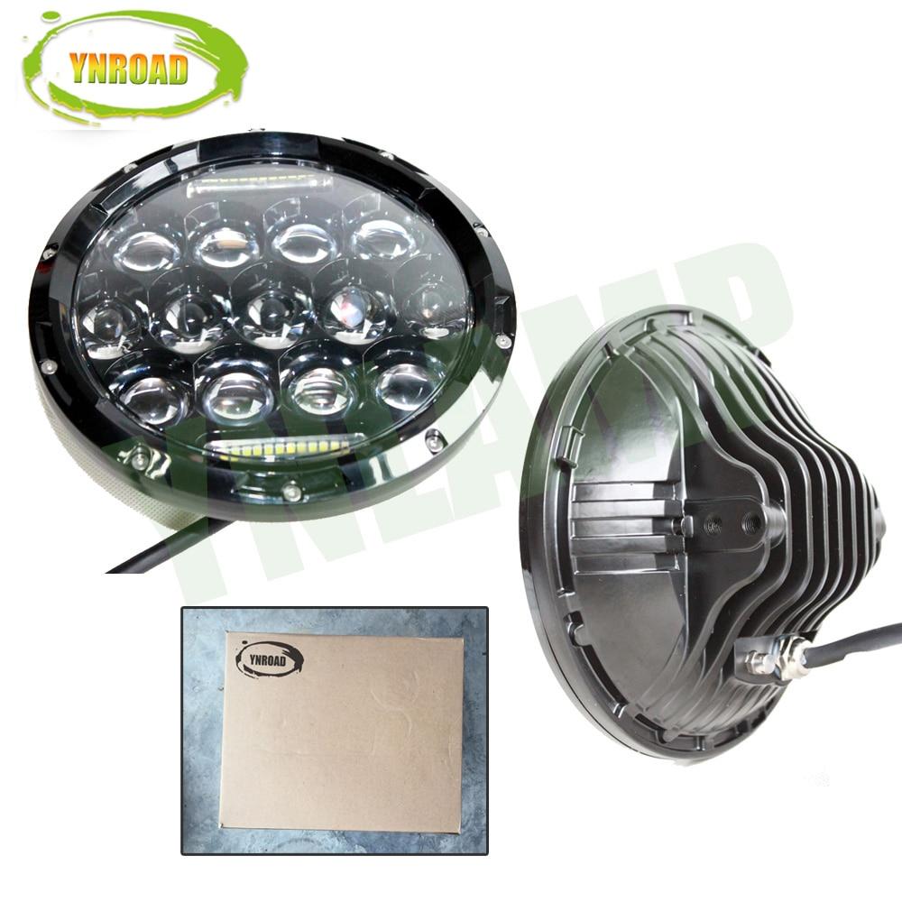 YNROAD Pair 75W Hi / Balok Rendah 7 inch 13pcs * 5w + 10WD RL Led - Lampu mobil - Foto 5