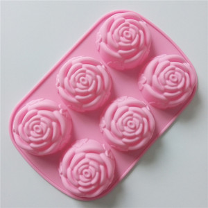 Rose Flower Shaped Silicone Ca