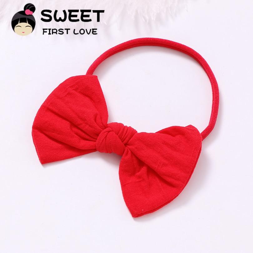 1 pcs Elastic Girl Headbands Cute Nylon Hair Accessories Elastic Bow Hairband lovely Bowknot Headbands   headwear   for kids