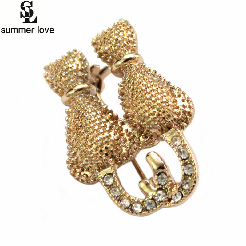 Valentine Gift Antique Couple Cat Brooch For Wommen Crystal Rhinestone Animal Brooch Pin Suits Dress Collar Coat Accessories