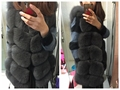 Real Fox Fur Vest Women 2016 New Fashion Genuine Fox Fur Coat Gilet Long Jacket Winter  Real Natural Fox Fur Coats Vest
