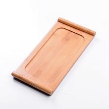 3 Größe Kung Fu Tee-Set Natürliche Holz Bambus Tee-tablett Rechteckig Bambus Puer Tee Tablett