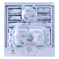19pcs newborn clothes set 100%cotton cortoon elk baby boys girl gift box set infant's outfits dwq179