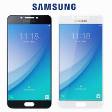 NEW Original Tested Super AMOLED LCD For Samsung Galaxy C7 Pro C7010 LCD Display Touch Screen Digitizer Assembly Replacement