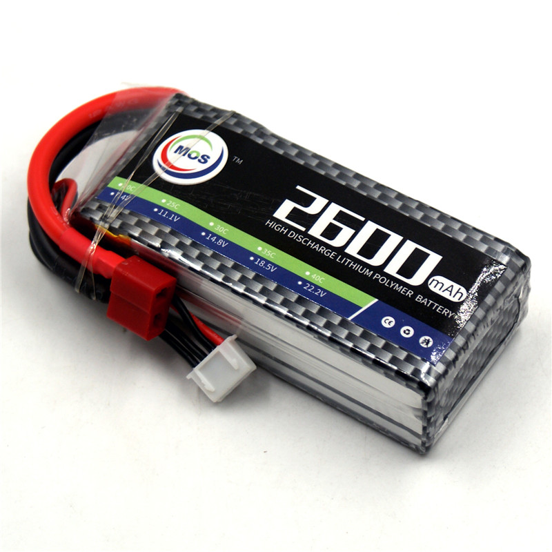 MOS 3S RC Lipo Battery 11.1v 2600mAh 40C-80C 3S Li-Po Batteries For RC Airplane Drone Car AKKU Batteria Free Shipping mos 2s rc lipo battery 7 4v 2600mah 40c max 80c for rc airplane drone car batteria lithium akku free shipping