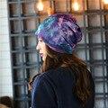 Cool Universe Pattern 2017 Fashion 3D Digital Printed Beanie Spring  Autumn Women Skullies Hat For Women Men