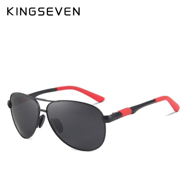 KINGSEVEN Metal Polarized Sunglasses Driving Men Women Brand Designer Glasses Fashion Eyewear 100% UV Protection  2