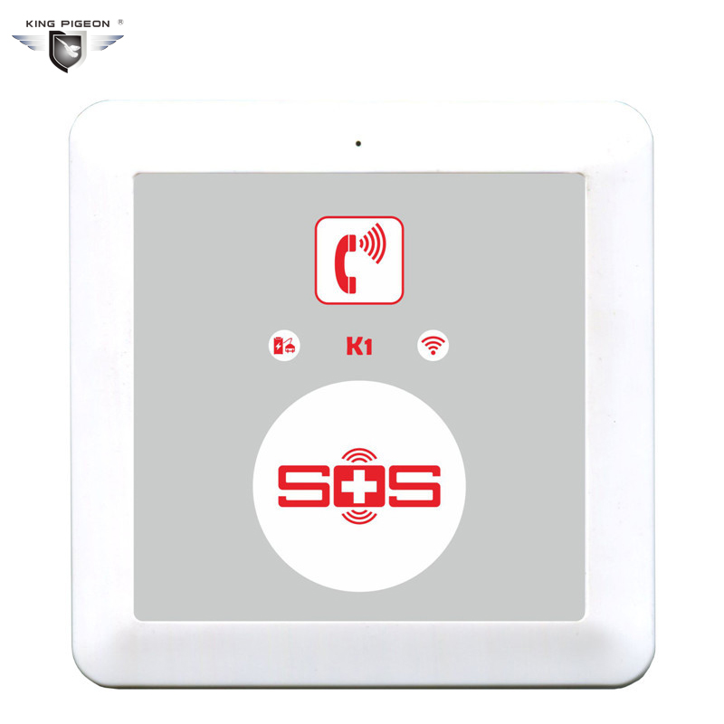 цены Elder/Senior GSM Alarm System Wireless GSM SOS Button Call/Home Alarm System Dialer Panel Elderly Helper Security K1