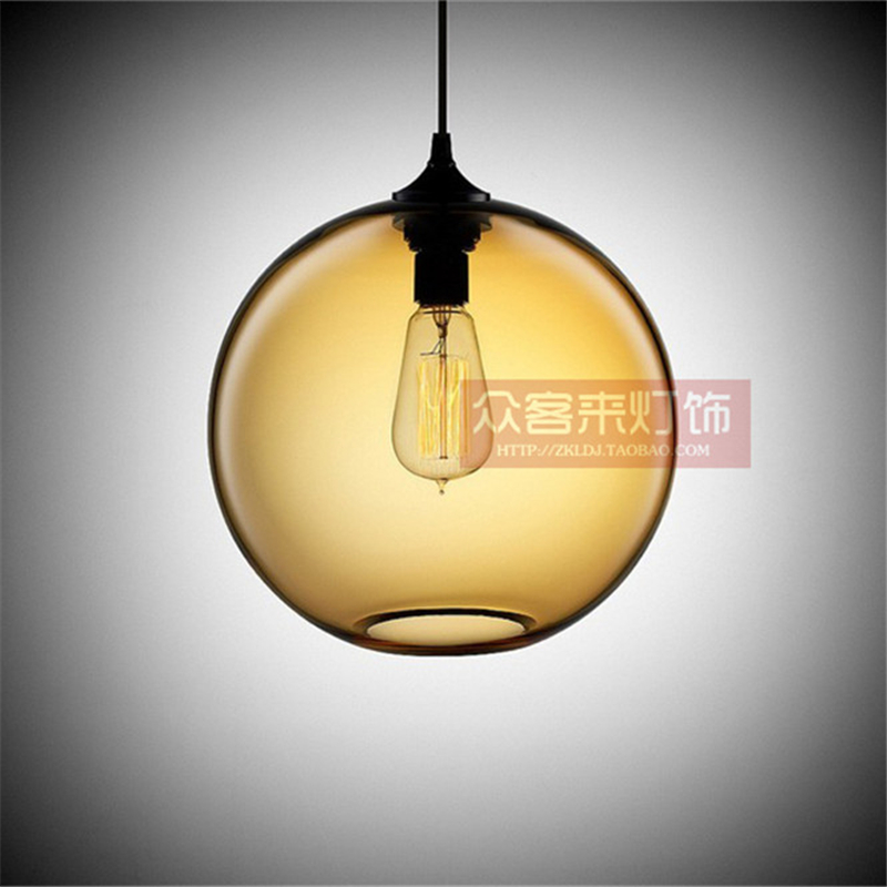 Nordic hanging loft 7 Color Glass Round ball Pendant Lamp industrial wind E27 Pendant Lights Fixtures for Kitchen Restaurant barNordic hanging loft 7 Color Glass Round ball Pendant Lamp industrial wind E27 Pendant Lights Fixtures for Kitchen Restaurant bar