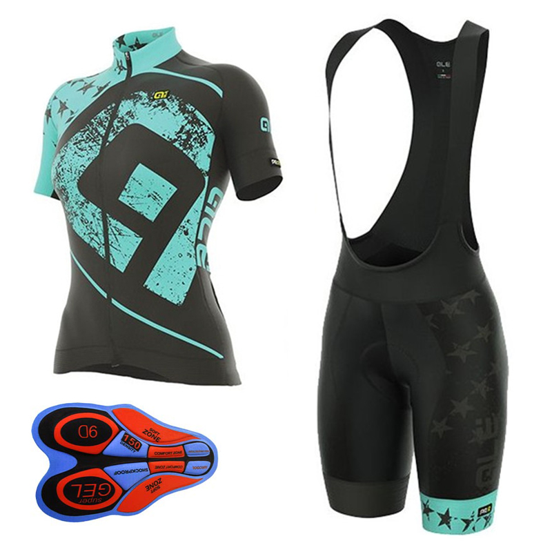 2018 ALE Pro Team Cycling Jersey Short Sleeve Bib shorts suit women Bike Clothing mujer Set Maillot Bicycle Clothes biciclet B23 nuckily ma008 mb008 men short sleeve bicycle cycling suit