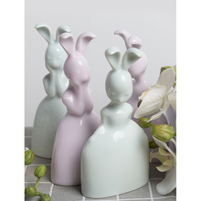 Modern Ceramic Rabbit Figurines Desktop Decorative Crafts Small Animal Ornaments Creative lovable Valentines Day Birthday Gift