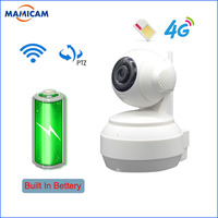 With Bettery 3G 4G SIM Card Mobile IP Camera HD 1080P 4G FDD LTE Netowrk Worldwide For Remote Control WIFI Camera