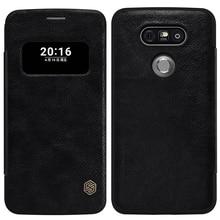 Nillkin Цинь Роскошные Откидная Крышка Для LG G5 Вид из Окна моды Натуральная Кожа Чехол Для lg G5 H850 H820 H830 VS987