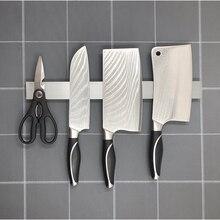 PTOC Магнитная подставка для ножей 304 нержавеющая сталь настенный стеллаж для хранения крюк для ножей органайзер для кухонных принадлежностей