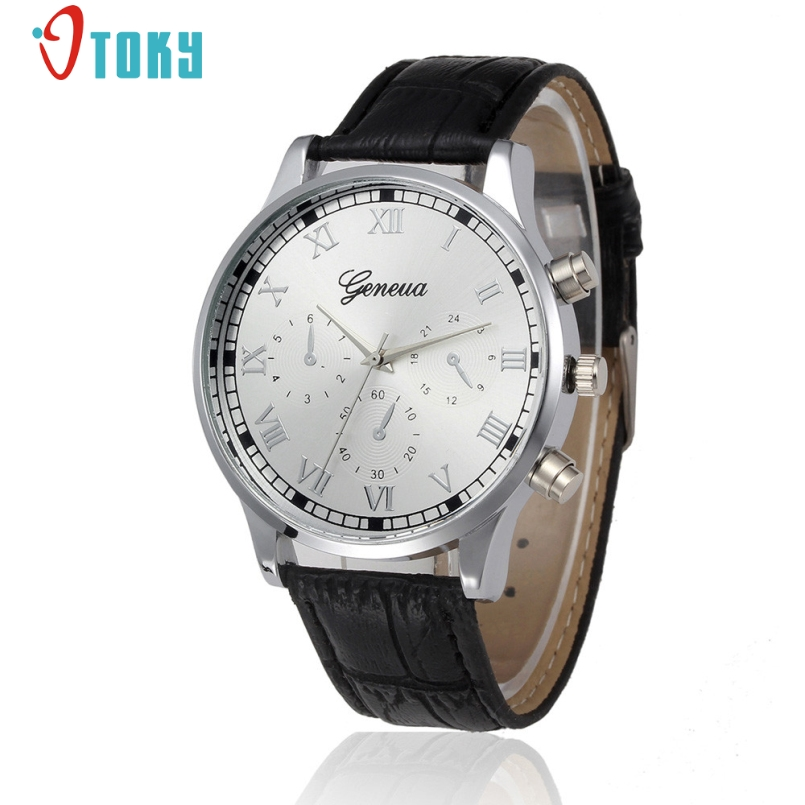 Excellent Quality New Mens Watch Fashion Casual High Quality Soft Leather Waterproof Quartz Wrist Watches For Men Heren Horloge