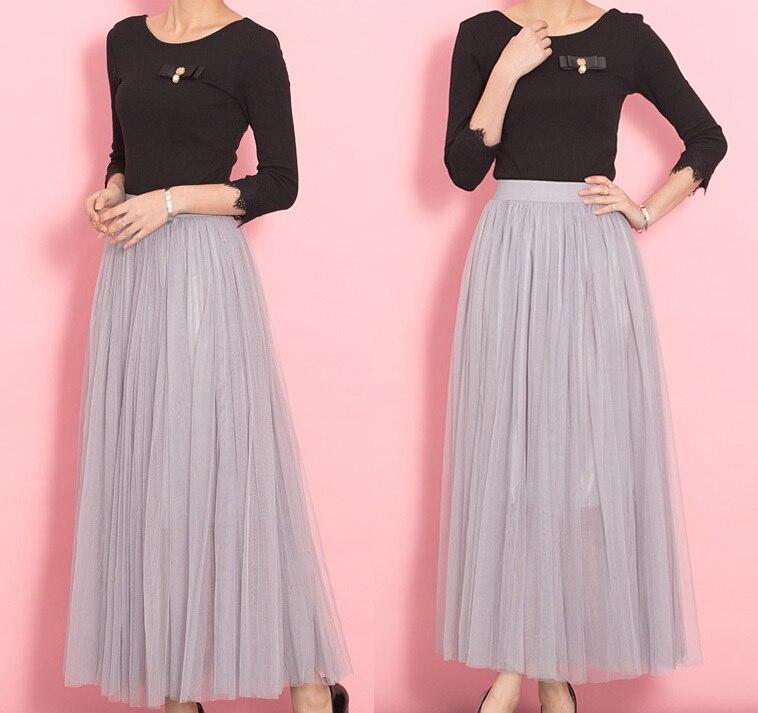 how to make a long black tulle skirt