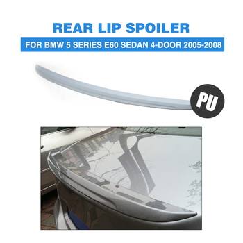Rear Spoiler Trunk Sticker Boot Wing For BMW 5 Series E60 Sedan 4-Door 2005-2008 Unpainted PU Grey Primer image