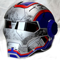 Tactical Men women ktm MADE Iron Man Patriot personality special motorcycle offbeat half open face motocross helmet-Blue-S,M-XXL
