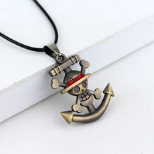 One Piece Pirate Luffy Anchor Skull Logo Pendant