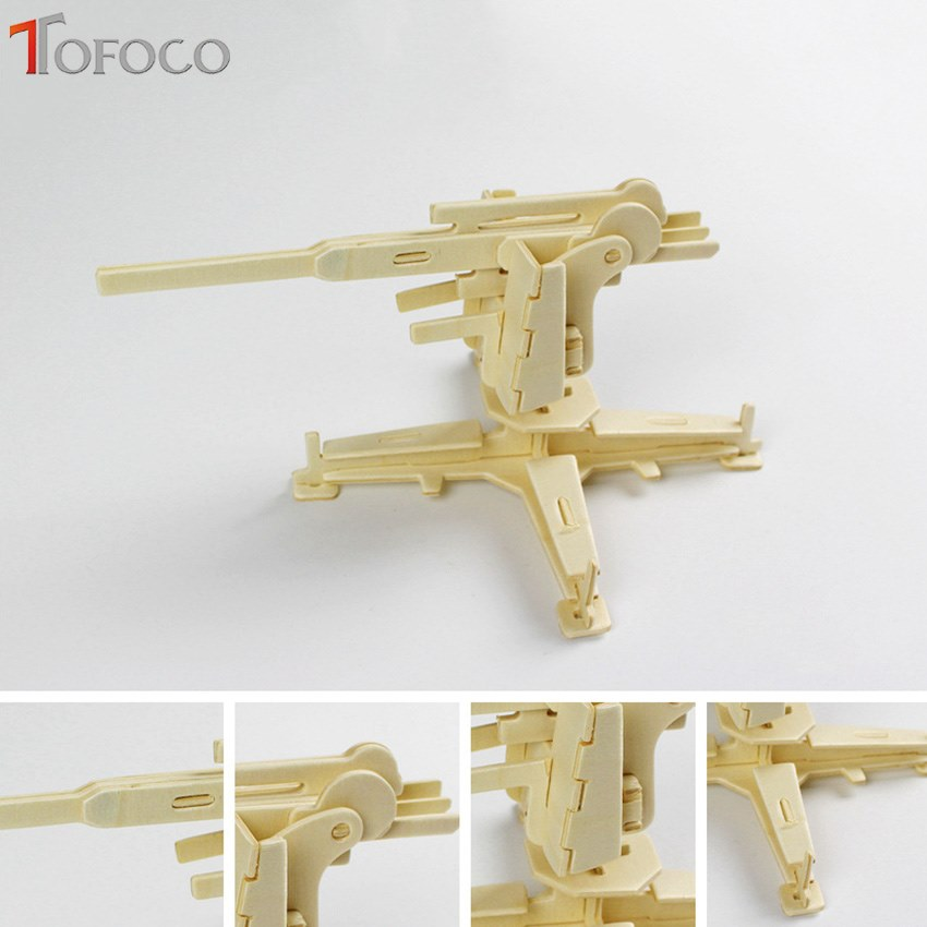 New Assembly DIY Education Toy 3D Wooden Wood Model Puzzles SW Weapons Puzzles & Geduldspiele