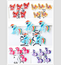 20Pcs Horse Burberry Rainbow Acrylic Resin Flatback DIY Phone Decoration