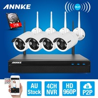 ANNKE 4CH CCTV System 960P NVR 4PCS 1 3 MP IR Outdoor P2P Wireless Wifi IP
