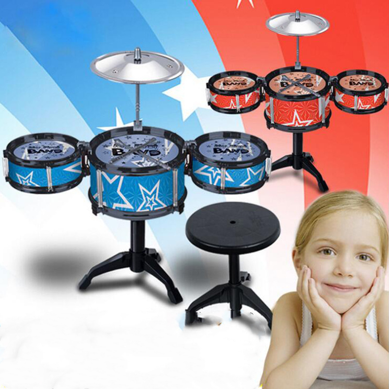 Children's Baby Drum Toys For Kids Beginners Get Started With Drums Music Beats Musical Instruments