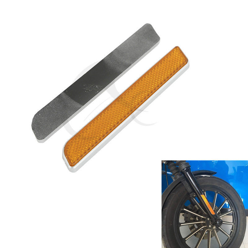 Motorcycle Front Fork Leg Reflectors For Harley Touring lower legs sliders Dyna Glide Sportster lower leg slider Motorcycle bande réfléchissante scooter orange pour fourche