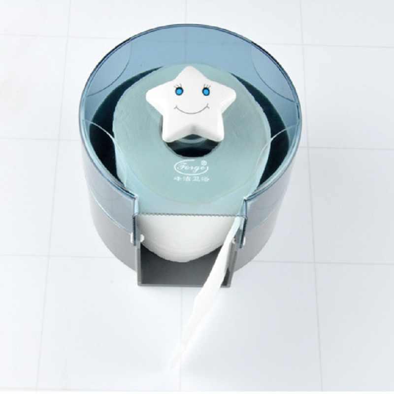 Wc uchwyt na papier hotelu plastikowe kreatywny rolka uśmiechnięta twarz pudełko na chusteczki do montażu na ścianie akcesoria łazienkowe 5 sztuk