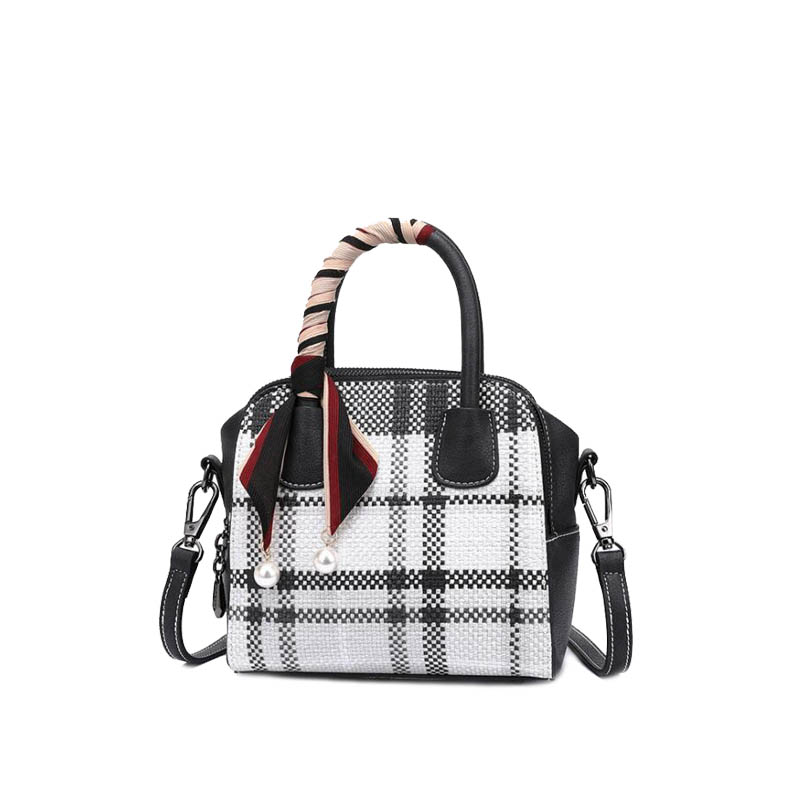 2018 new fashion handbag plaid wear bag casual atmosphere women bag simple bolsas feminine new leather women bag white fashion satchel simple atmosphere retro handbag speedy bag