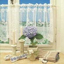 Балдахин панель драпировка Дышащие Короткие Занавески s короткие белые тюлевые занавески для кухни половина занавески s для дома декоративные
