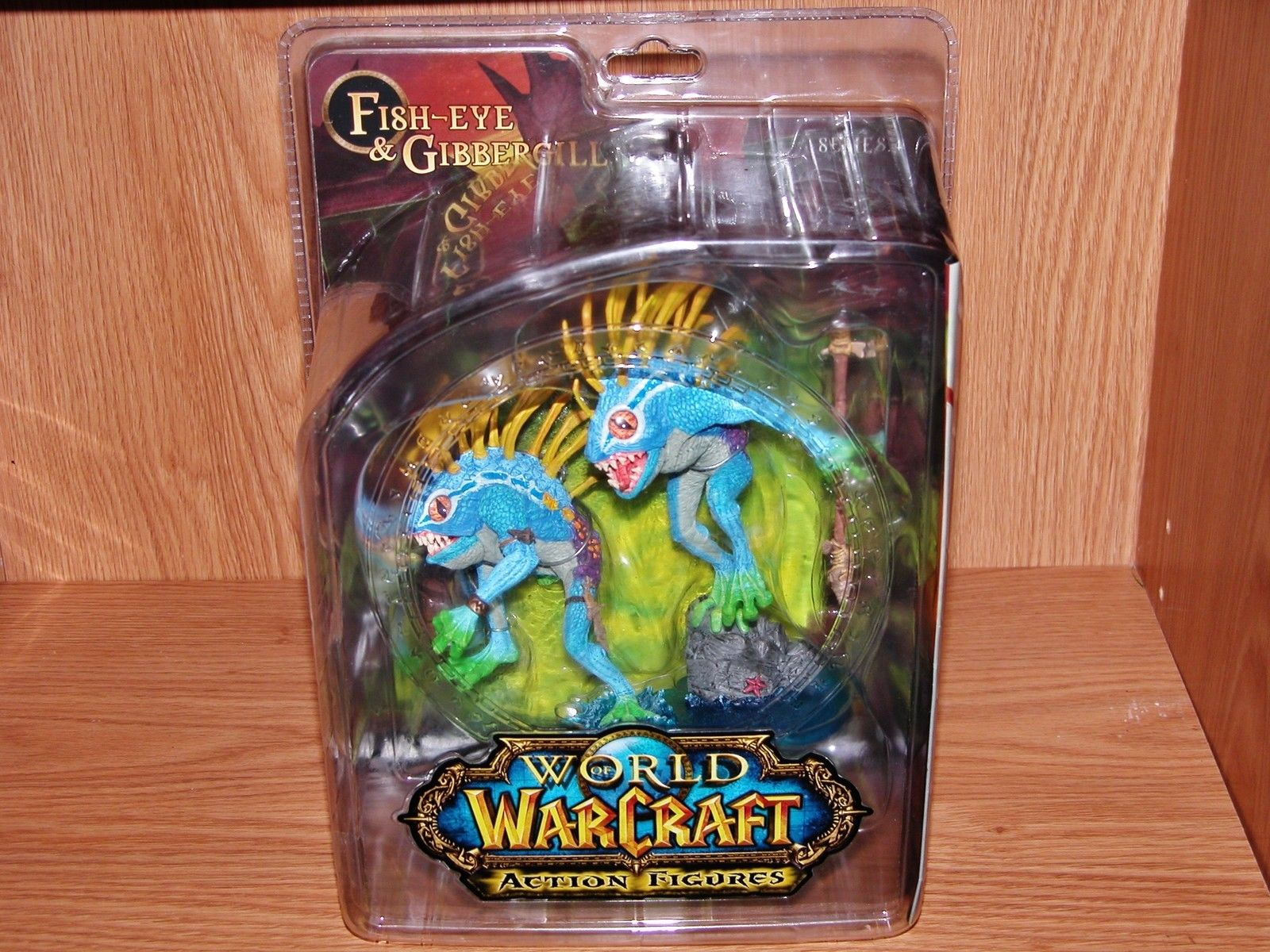 World of Series 4: Murloc Action Figure 2-Pack: Fish-eye and Gibbergill фигурка planet of the apes action figure classic gorilla soldier 2 pack 18 см