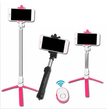 Wireless Bluetooth Remote Shutter Selfie Stick Mini Tripod Extendable Selfie Stick Universal for iOS Android Smartphone Dropship