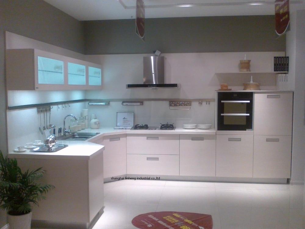 Melamine/mfc Kitchen Cabinets(LH-ME045)