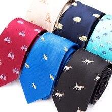 Mens Fashion Skinny Ties Solid Necktie Polyester Jacquard Cravat Black Blue Red Tie Men Business Wedding Party Luxury Neck