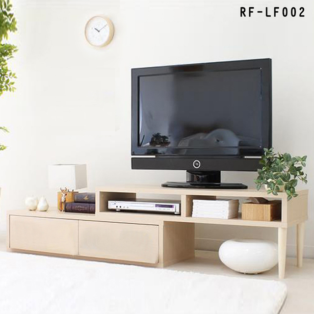 Wood TV Cabinet TV Cabinet Modern Minimalist Living Room Furniture Chinese  Scalable Small Apartment Cabinet