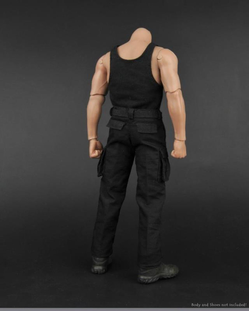 1:6 Scale Black Pants for 12/'/' Action Figure Male Body Accessory